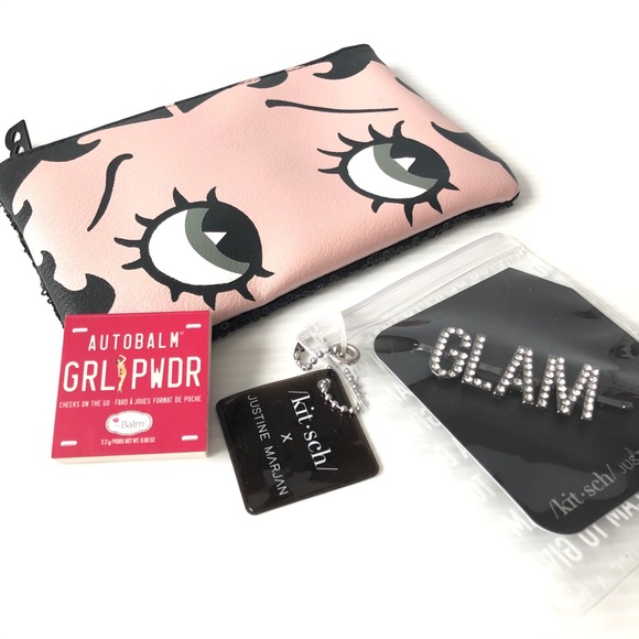 Glam Beauty theBalm 💝2/$20 Blush Betty Boop Bag